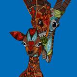 Giraffe Love Reproduction d'art par Sharon Turner