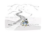 Hitch Hiking Robot - Cartoon