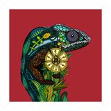 Chameleon Red Reproduction d'art par Sharon Turner