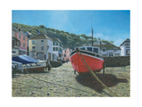 The Red Boat Polperro Cornwall