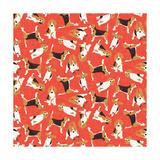 Beagle Scatter (Variant 2) Reproduction d'art par Sharon Turner