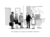 """""""Ms Goldilocks is in charge of our building's thermostat"""" - Cartoon"""