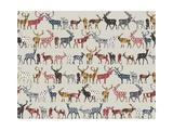 Oatmeal Spice Deer Reproduction d'art par Sharon Turner