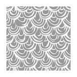 Monochrome Scallop Scales Reproduction d'art par Sharon Turner