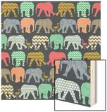 Baby Elephants and Flamingos (Variant 1)