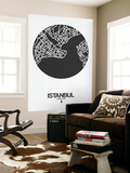 Istanbul Street Map Black on White