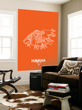 Havana Street Map Orange