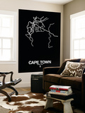 Cape Town Street Map Black