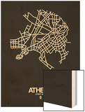 Athens Street Map Black