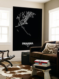 Panama Street Map Black