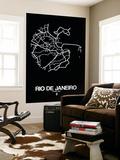 Rio de Janeiro Street Map Black
