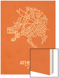 Athens Street Map Orange