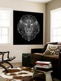 Lion Head Black Mesh