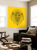 Lion Head Yellow Mesh