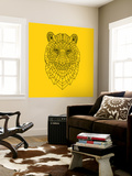 Tiger Head Yellow Mesh
