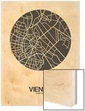 Vienna Street Map Black on White