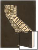 California Black and White Map