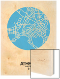 Athens Street Map Blue