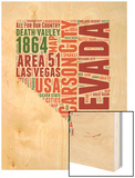 Nevada Word Cloud Map