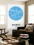 Sao Paulo Street Map Blue