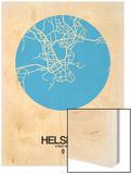 Helsinki Street Map Blue