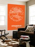 Stockholm Street Map Orange