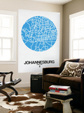 Johannesburg Street Map Blue