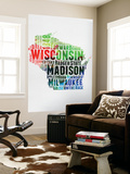 Wisconsin Watercolor Word Cloud