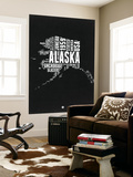 Alaska Black and White Map