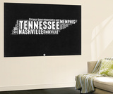 Tennessee Black and White Map