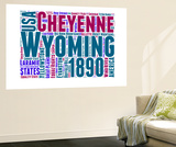 Wyoming Word Cloud Map