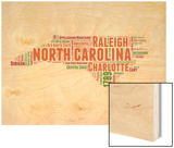 North Carolina Word Cloud Map