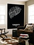 Toronto Street Map Black