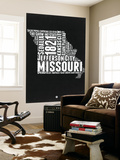 Missouri Black and White Map