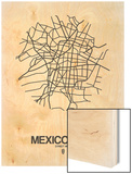 Mexico City Street Map White