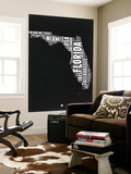 Florida Black and White Map