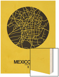Mexico City Street Map Yellow
