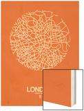 London Street Map Orange