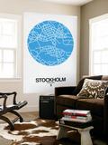 Stockholm Street Map Blue