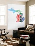 Michigan Watercolor Word Cloud