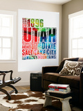 Utah Watercolor Word Cloud