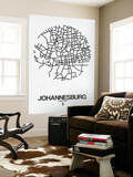 Johannesburg Street Map White