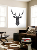 Black Polygon Deer