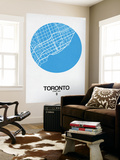 Toronto Street Map Blue