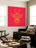 Giraffe on Red