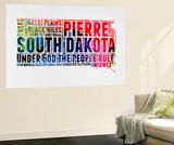 South Dakota Watercolor Word Cloud