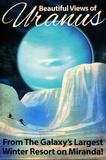 Uranus Retro Space Travel Reproduction d'art par Lynx Art Collection