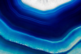 Background of Slice of Blue Agate Crystal Papier Photo par Wlad74