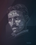 Nikola Tesla Typography Quotes