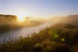 Sunrise Through Fog on the Loup River in the Nebraska Sandhills